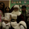 Santa Visits Families at the Canyon Country Community Center.
