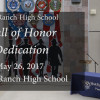 West Ranch High School Wall of Honor Dedication Ceremony