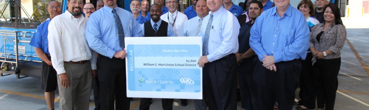 City Transit Donates Money to Hart District