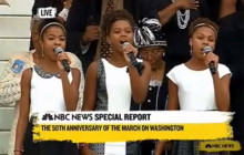 Schauble Girls of SCV Sing National Anthem for U.S. Presidents at MLK Remembrance