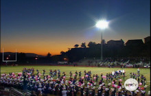 Wildcat Marching Band and Color Guard Plays National Anthem