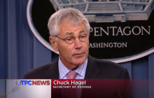 Hagel on End of Shutdown; Troops and the Flu; more