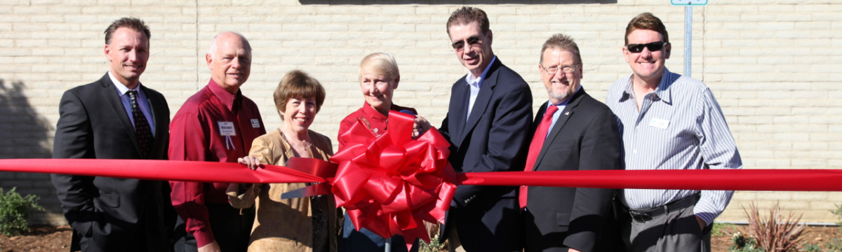 Valencia Library Parking Lot Extension Ribbon Cutting