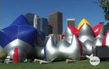 Exxopolis; The colorful, massive, inflatable walk-in sculpture