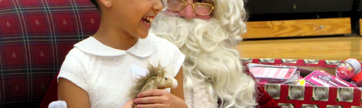 Michael Hoefflin Kids Celebrate with Santa
