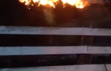 Cell Phone Video Shows Flames Erupting Near Calgrove