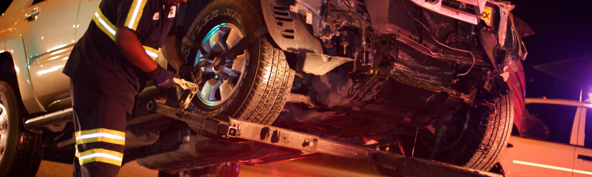 Evening Collision Snarls Traffic in Newhall