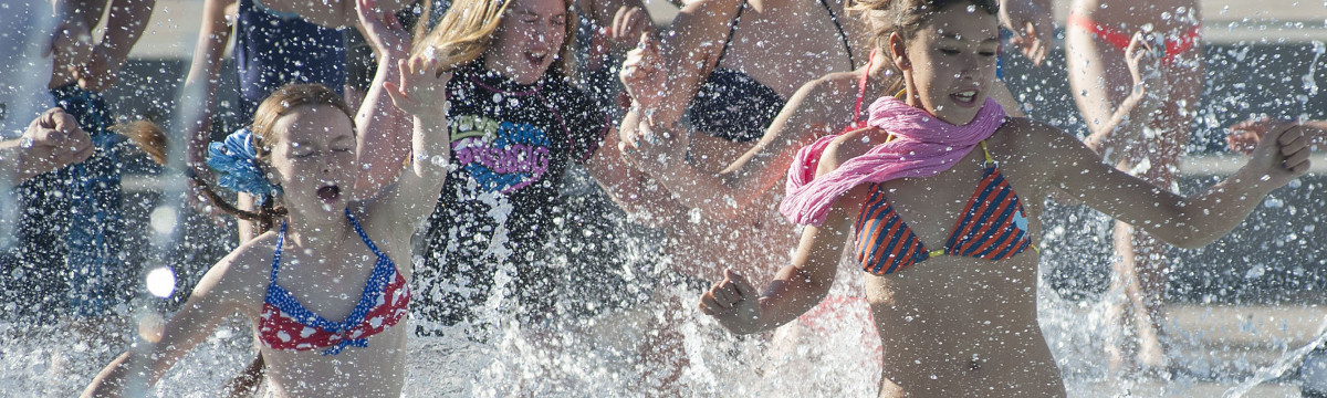 Residents Take the Dive at City's Annual Arctic Chill Polar Bear Swim