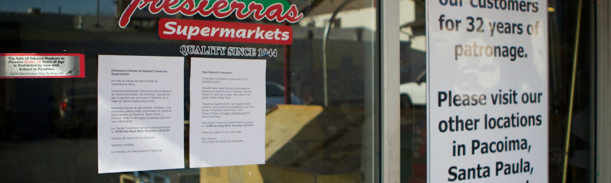 Newhall Tresierras Supermarket Closes