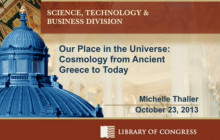 Cosmology from Ancient Greece to Today, with NASA-Goddard's Dr. Michelle Thaller