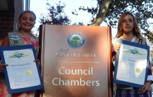 Girl Scouts Recognized for Sharing Water Safety Message