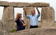 President Obama Vists Stonehenge