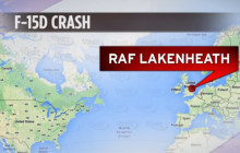 F-15 Crashes in England; Lone Aviator Ejects Safely