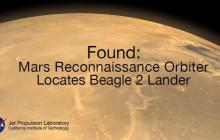 JPL-controlled Satellite Detects UK's Long Lost Beagle-2 Mars Lander