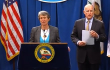Gov. Brown, U.S. Interior Secretary Talk Drought Relief