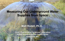 Measuring Our Underground Water Supplies from Space