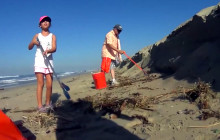 Employees, Families Help Clean Up Coastline