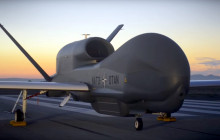 First Flight of NATO's First Spy Drone, From Palmdale to Edwards, 12-19-2015