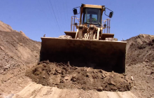 County Public Works Begins Clearing Debris on Vasquez Canyon Road