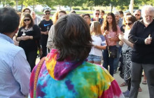 Crowd Gathers in Santa Clarita to Reflect on Shooting