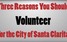 Volunteer for the City of Santa Clarita