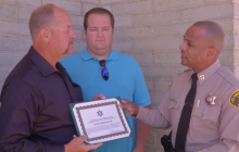 Two Men Honored for Stopping Arsonist