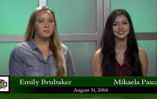 Canyon News Network for Wednesday, Aug. 31, 2016