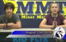 Placerita Miner Morning TV for Wednesday, Aug. 31, 2016