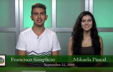 Canyon News Network for Thursday, Sept. 22, 2016