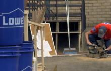 Lowes Revamps Men's Dorm at Bridge-to-Home Shelter