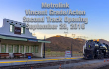 Metrolink Dedicates 2nd Track at Vincent Grade, Acton