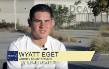 West Ranch TV for Wednesday, 11-2-2016: Varsity Quarterback Wyatt Eget