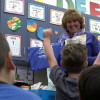 Kindergarteners Surprised with Bag-of-Books