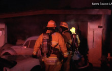 Garage Fire Sends One to Hospital