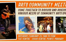 Feb. 1, 2017: People of Interest, Arts Community Meeting, more