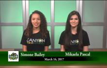 Canyon News Network, 3-16-17
