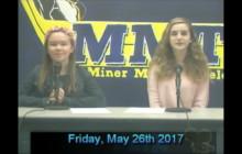 Miner Morning TV, 5-26-17