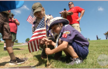 Eternal Valley Hosts Annual 'Memorial Day Flag Placement' Event