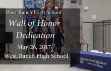 West Ranch High School Wall of Honor Dedication Ceremony