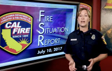 Fire Situation Report for July 10th 2017
