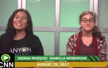 Canyon News Network, 8-25-17 | Spirit Week