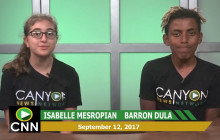 Canyon News Network, 9-12-17 | Sports Update, Homecoming Court