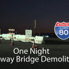 Caltrans News Flash: I-80 Overpass Demolition in One Night
