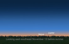What's Up for November 2017: Dawn Pairing of Jupiter and Venus