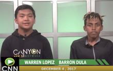 Canyon News Network, 12-4-17 | Monday Morning Message