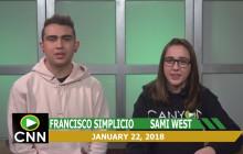 Canyon News Network, 1-22-18 | Monday Morning Message