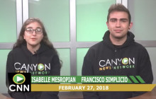 Canyon News Network, 2-27-18 | Teen Violence Awareness PSA