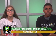 Canyon News Network, 3-1-18 | Every 15 Minutes PSA