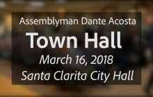 Assemblyman Dante Acosta Hosts Town Hall