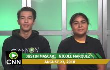 Canyon News Network, 8-23-18 | Senior Sunrise Segment